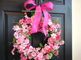 spring wreath for front door wreaths cherry blossom wreaths