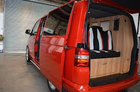 volkswagen eurovan camper interior red face lift vw t5 camper welsh coast campers