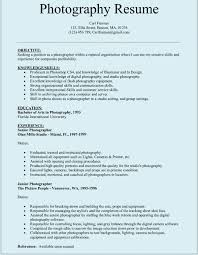 gallery of photography resume template