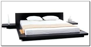 chrome accented queen size platform bed free shipping today frame