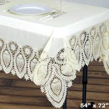 Fitted Oval Vinyl Tablecloths 54