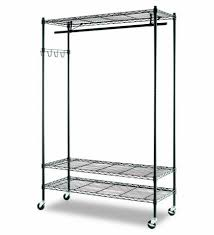 garment rack with shelves innovations garment rack shelves