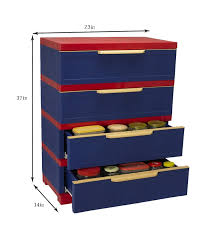 nilkamal kitchen furniture nilkamal freedom chester 14 with 4 drawers pepsi blue and