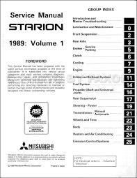 1989 mitsubishi starion repair shop manual original 2 vol set