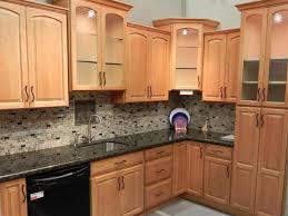 fascinating grey granite countertops with oak cabniets interior