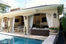 Stucco Patio Cover Designs Freestanding Loaded Pool Cabana Custom Patios