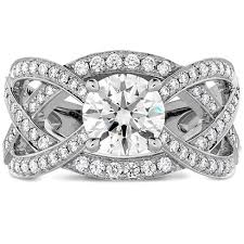 intertwined wedding rings intertwining hof diamond engagement ring