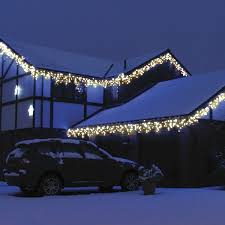 outdoor icicle lights warm white outdoor designs