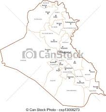 iraq map vector iraq outline map iraq map with major cities baghdad vectors