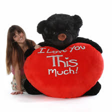 big teddy for s day juju cuddles 4ft size s day teddy black