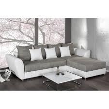 canapé d angle convertible blanc gris palma 265 cm