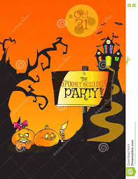 hand drawn halloween spooktaculous party pamphlet concept stock
