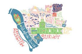Map Washington Dc Washington Dc Map Illustrated Maps By Benoit Cesari Aka Bnito