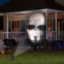 outdoor halloween projector lightshow animated outdoor projection fade steady white projector