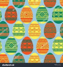 easter ornamental eggs seamless pattern stock vector 263240051