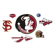ncaa florida state fathead jr fsu college wall stickers set ncaa florida state seminoles logo wall accents