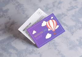 postcard invitation card mock up on behance