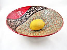 pottery fruit bowl handcrafted by ning u0027s pottery
