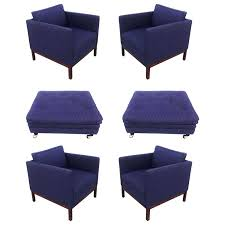 Ottomans Civ 5 Florence Knoll Ottoman Set Of Four Knoll Style Lounge Chairs Two