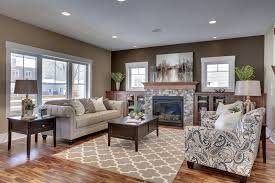 Traditional Living Room Interior Design - traditional living room with built in bookshelf u0026 stone fireplace