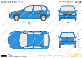 opel door the blueprints com vector drawing opel corsa b 5 door