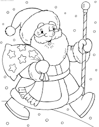 coloring santa claus with gifts u0026 raquo coloring for kids print