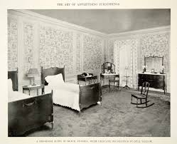Antique Bedroom Furniture 1915 Print Antique Bedroom Furniture Suite Twin Beds Dresser