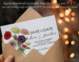 custom save the dates floral save the date botanical save the date save the date