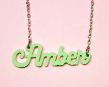acrylic name necklace acrylic name necklace ebay