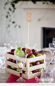 centre de table mariage pas cher boîtes de pommes idée original pour décorer un centre table de