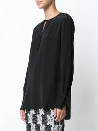 keyhole blouse diane furstenberg tie front keyhole blouse farfetch
