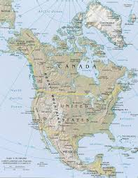 Latin America Blank Physical Map by North America Physical Map Blank