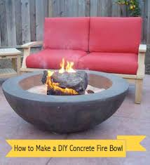 How To Make A Propane Fire Pit by How To Make A Concrete Fire Pit Or Fire Bowl In 5 Easy Steps