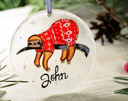sloth ornament etsy