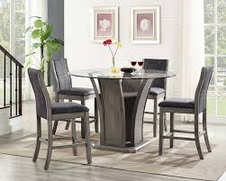 counter dining chairs ivy bronx christian 5 piece counter height dining set u0026 reviews