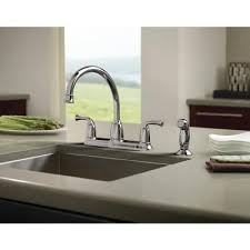 moen banbury 2 handle mid arc standard kitchen faucet with side