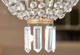 hanging crystals empire style antique chandelier jean marc fray