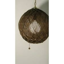 hippie vintage hanging ceiling light rattan swag lamp