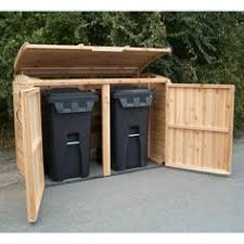 Backyard Garbage Cans by Storage Ideas For Outdoor Recycling Bins Yahoo Image Search