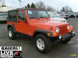 jeep wrangler orange 2006 impact orange jeep wrangler unlimited rubicon 4x4 46697351