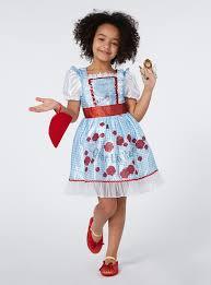 wizard of oz costume fancy dress girls blue dorothy costume 3 10 years tu clothing