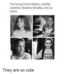 Emma Watson Meme - the young emma watson jennifer lawrence shailene woodley and lily