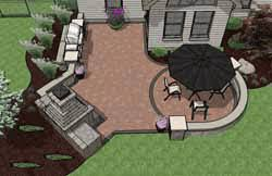 Outdoor Fireplace Patio Designs Pre Priced Patio Designs Dayton Schneider S Landscaping