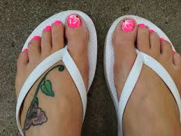 toe nail flower design nail creations pinterest nail