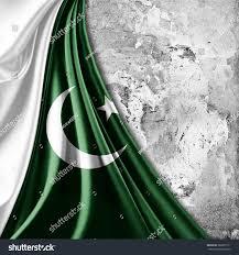 Oakistan Flag Pakistan Flag Wall Background Stock Illustration 262835111
