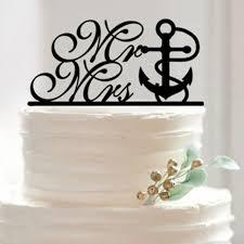 anchor wedding cake topper wedding cake topper the knot anchor nautical wedding