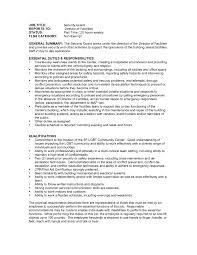Resume Samples No Experience by Tasty Professional Security Officer Resume Sample Guar Zuffli