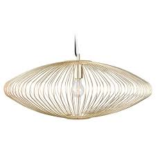 Cage Pendant Light Nuevo Lighting Maia Gold Cage Pendant Light Hgmo188