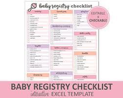 baby gift registry list checklist etsy