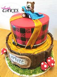 Bear Themed Baby Shower Cakes Lumber Jack And Teddy Bear Themed Baby Shower Cake Woodland Feel